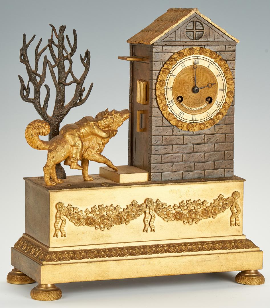 Lot 200: French Bronze Mantle Clock, Baullier FLS Paris