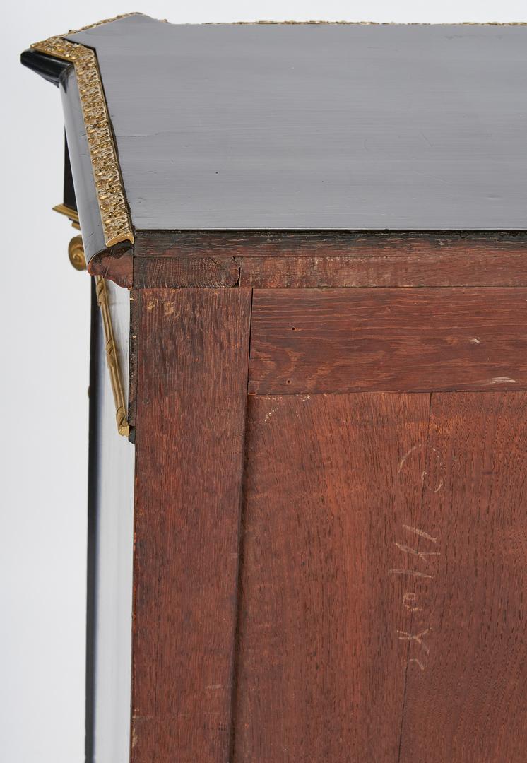 Lot 206: Napoleon III Ebonized Bronze Mounted Cabinet