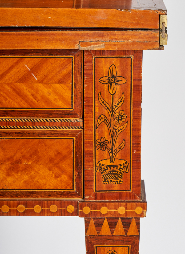 Lot 207: Continental Ladies Inlaid Writing Desk