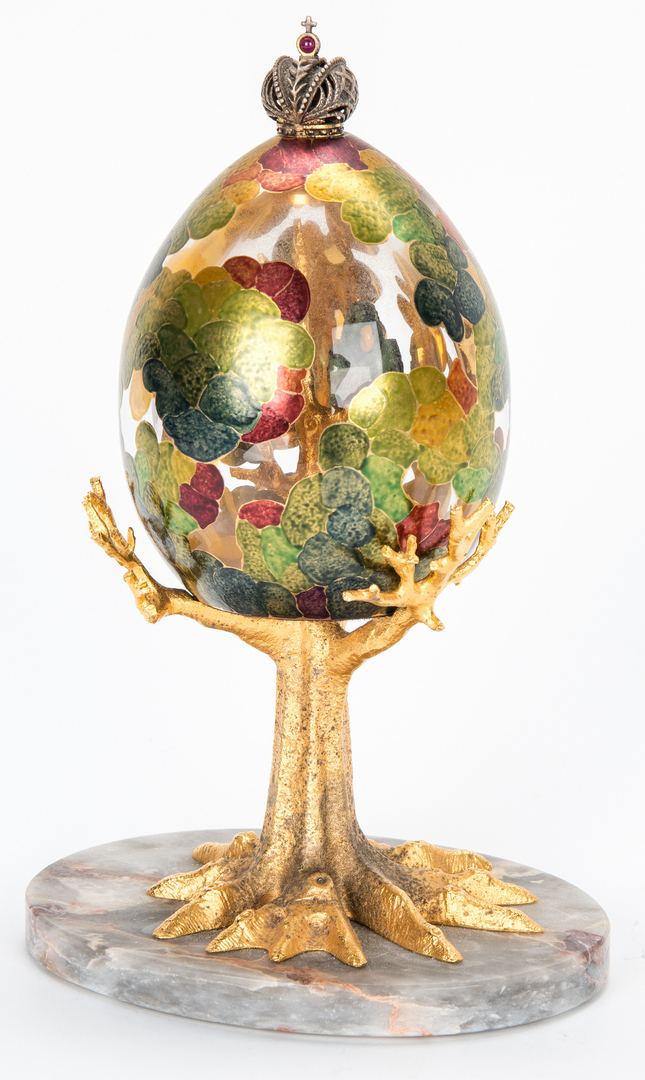Lot 209: 1992 Theo Faberge Tropical Egg, 2 pcs.