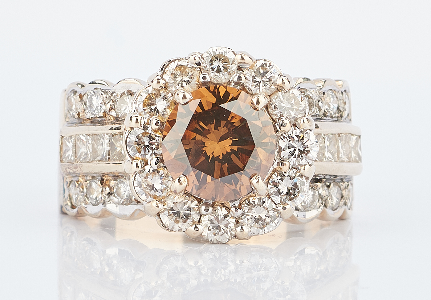 Lot 213: 14K 2.2 Carat Chocolate Diamond Ring