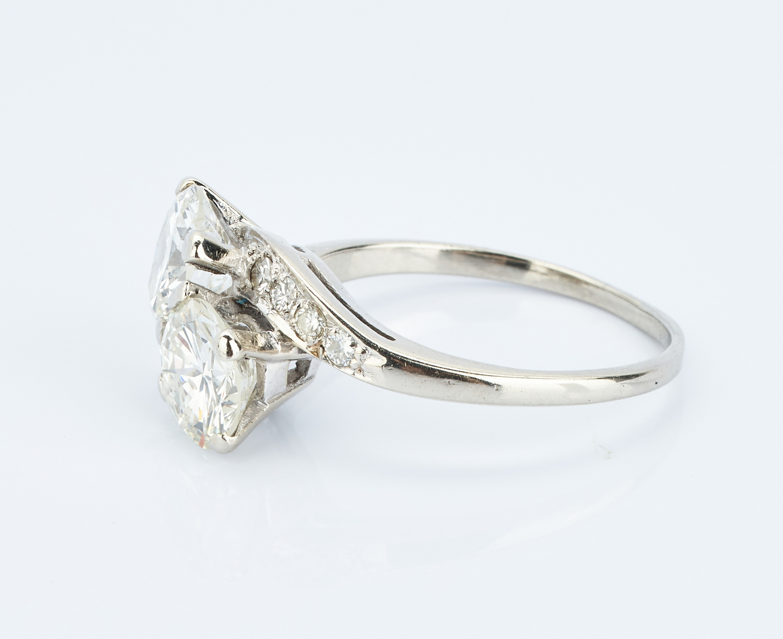 Lot 214: Ladies 14K Diamond Bypass Ring, 2.2 Carats