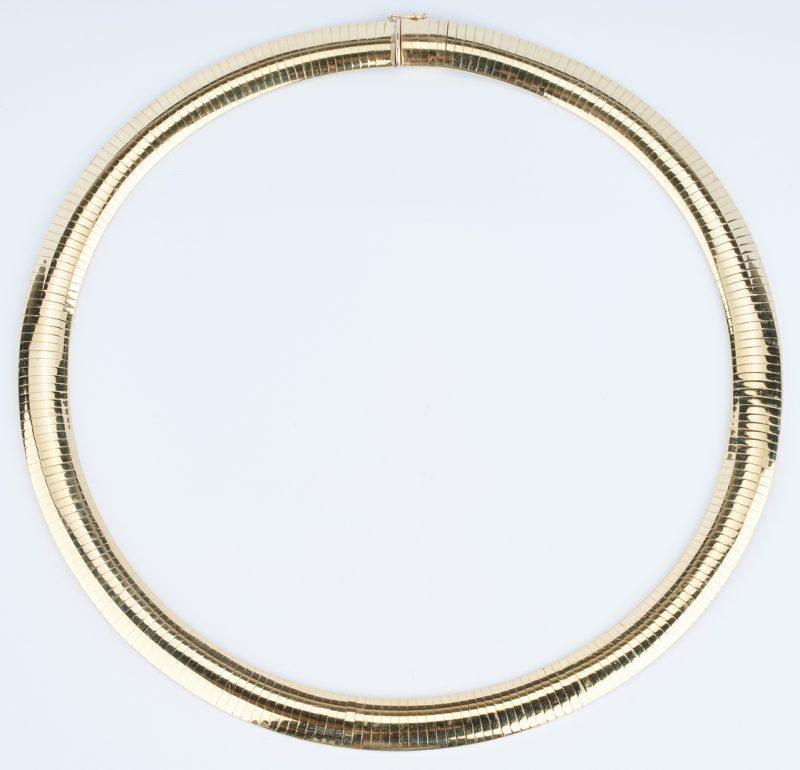 Lot 218: 14K Italian Gold Choker Necklace