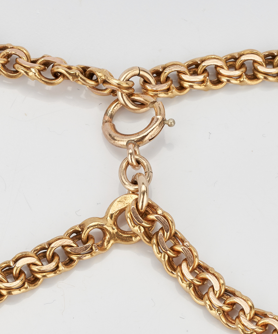 Lot 221: 14K Yellow Gold Spiga/Wheat Necklace