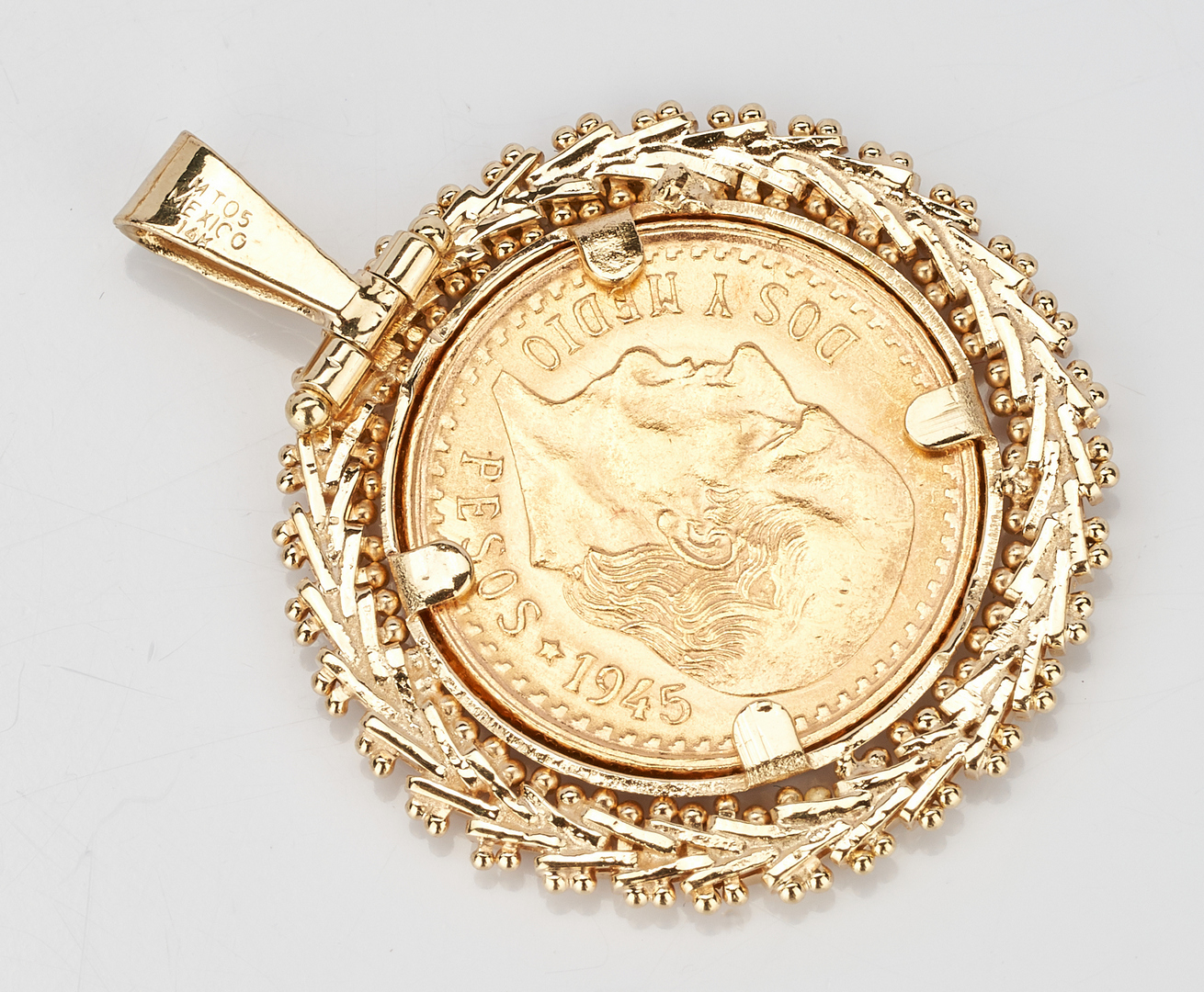 Lot 222: Gold Coin Bracelet incl. $5 Liberty & Gold Peso
