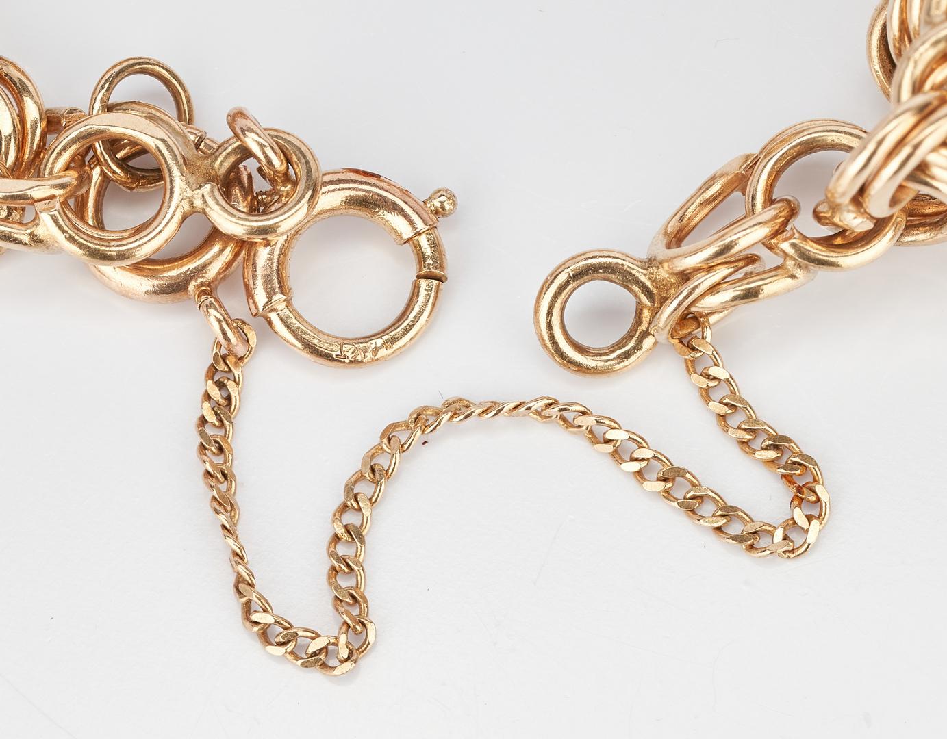 Lot 226: 14k Charm Bracelet, 6 Charms