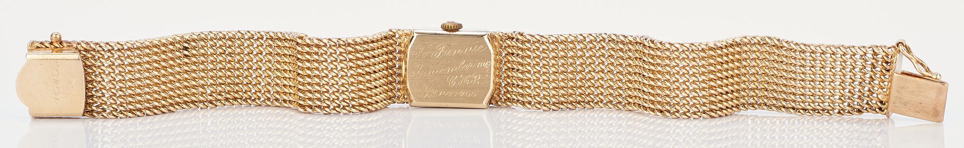 Lot 233: Ladies 14K Yellow Gold Movado Watch
