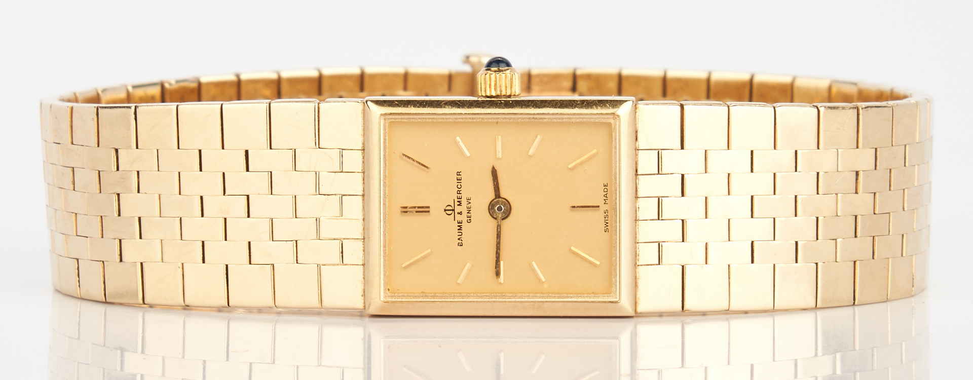 Lot 235: Baume & Mercier 14K Ladies Watch