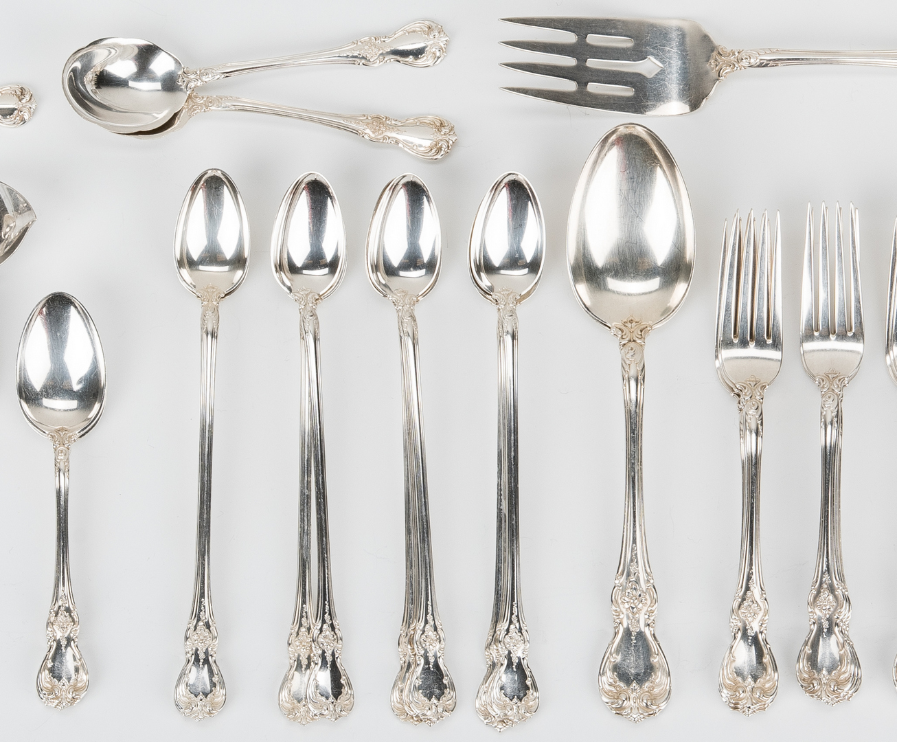 Lot 241: 100 Pcs. Towle Old Master Sterling Silver Flatware