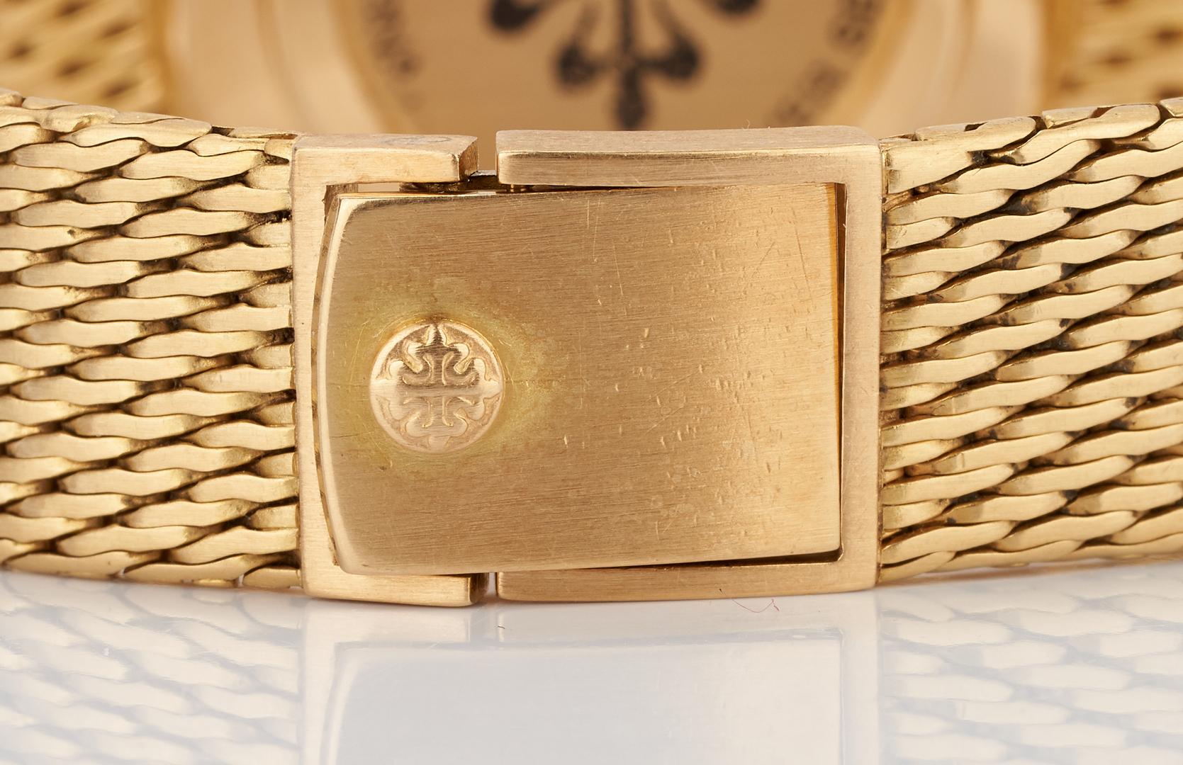 Lot 24: Men's 18K Yellow Gold Patek Philippe Watch