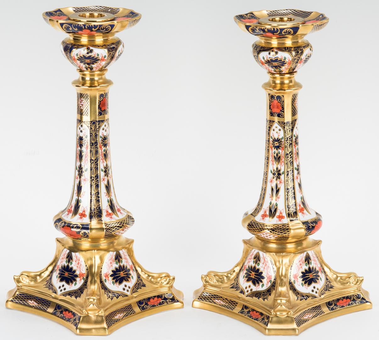 Lot 250: 63 Pcs. Royal Crown Derby Imari Porcelain, Cigar Pattern