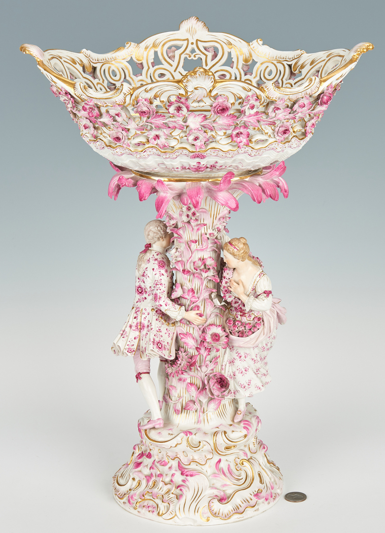 Lot 256: Large Meissen Porcelain Figural Centerpiece