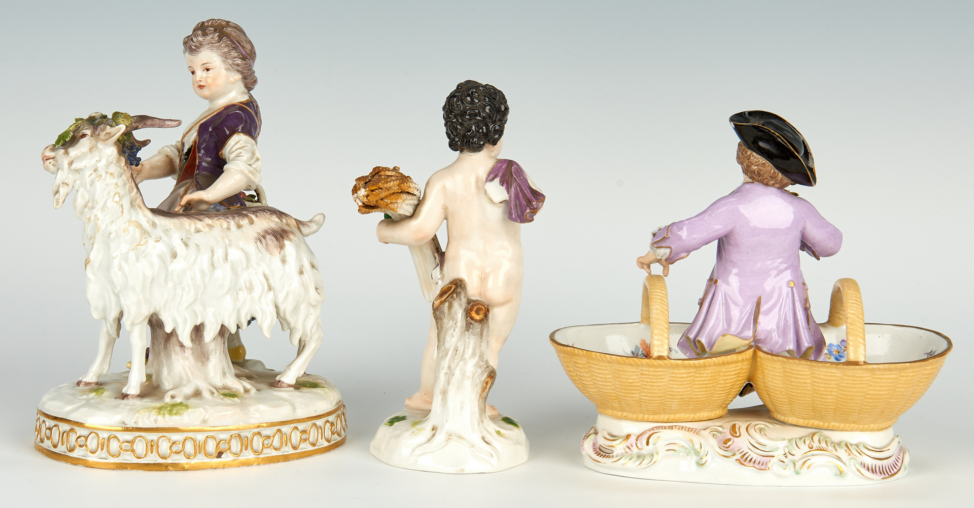 Lot 257: 4 German Meissen Porcelain Items