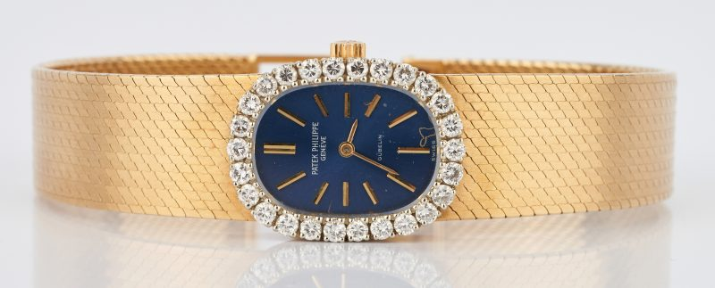 Lot 25: Ladies 18K & Diamond Patek Philippe Watch