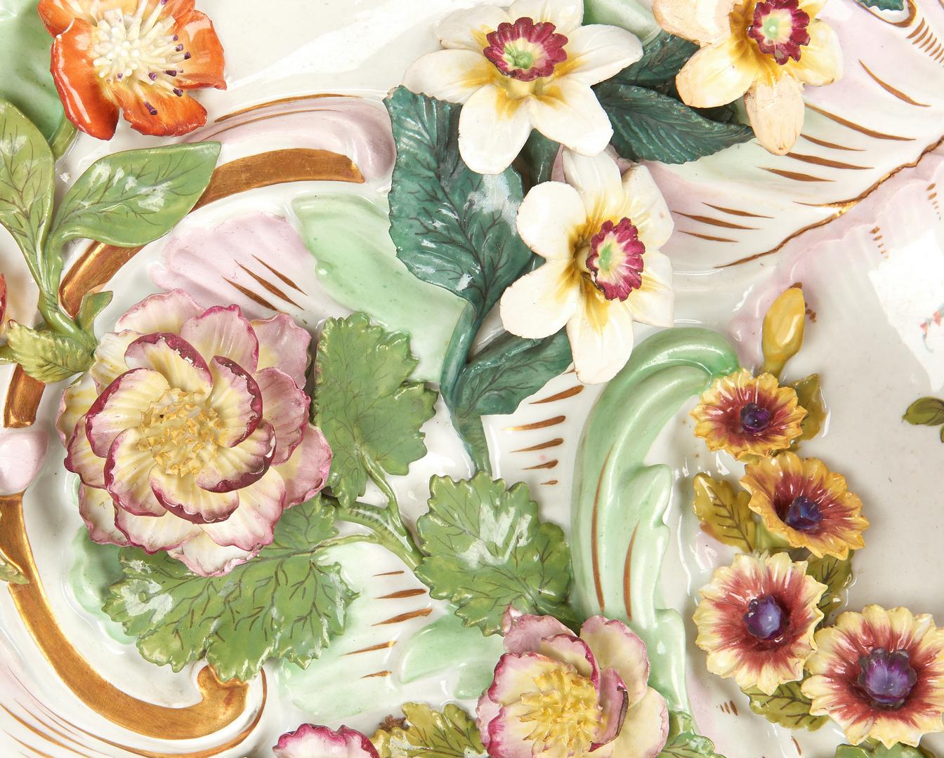 Lot 261: Pr. Large Meissen Style Porcelain Bracket Shelves