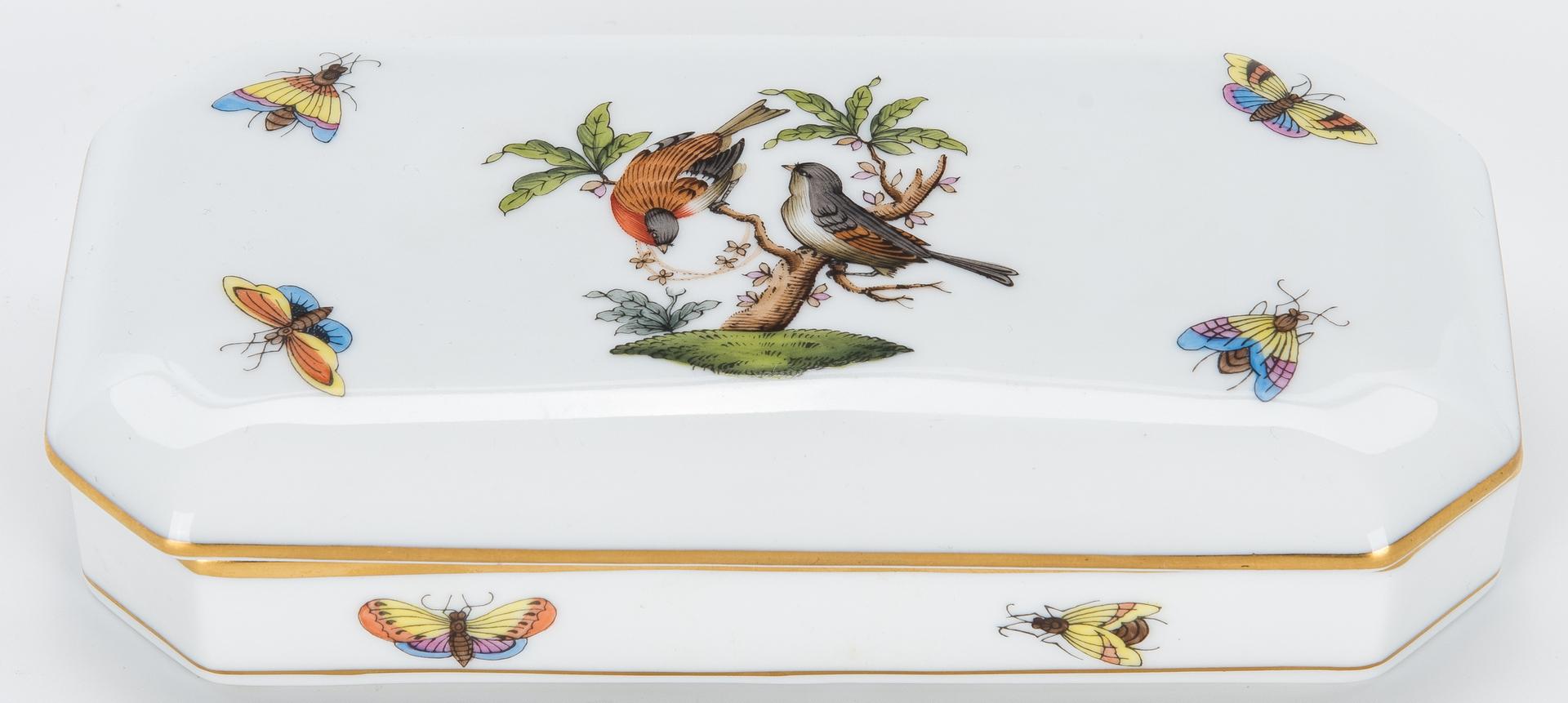 Lot 262: 9 Herend Porcelain Items, incl. Asian Figurals