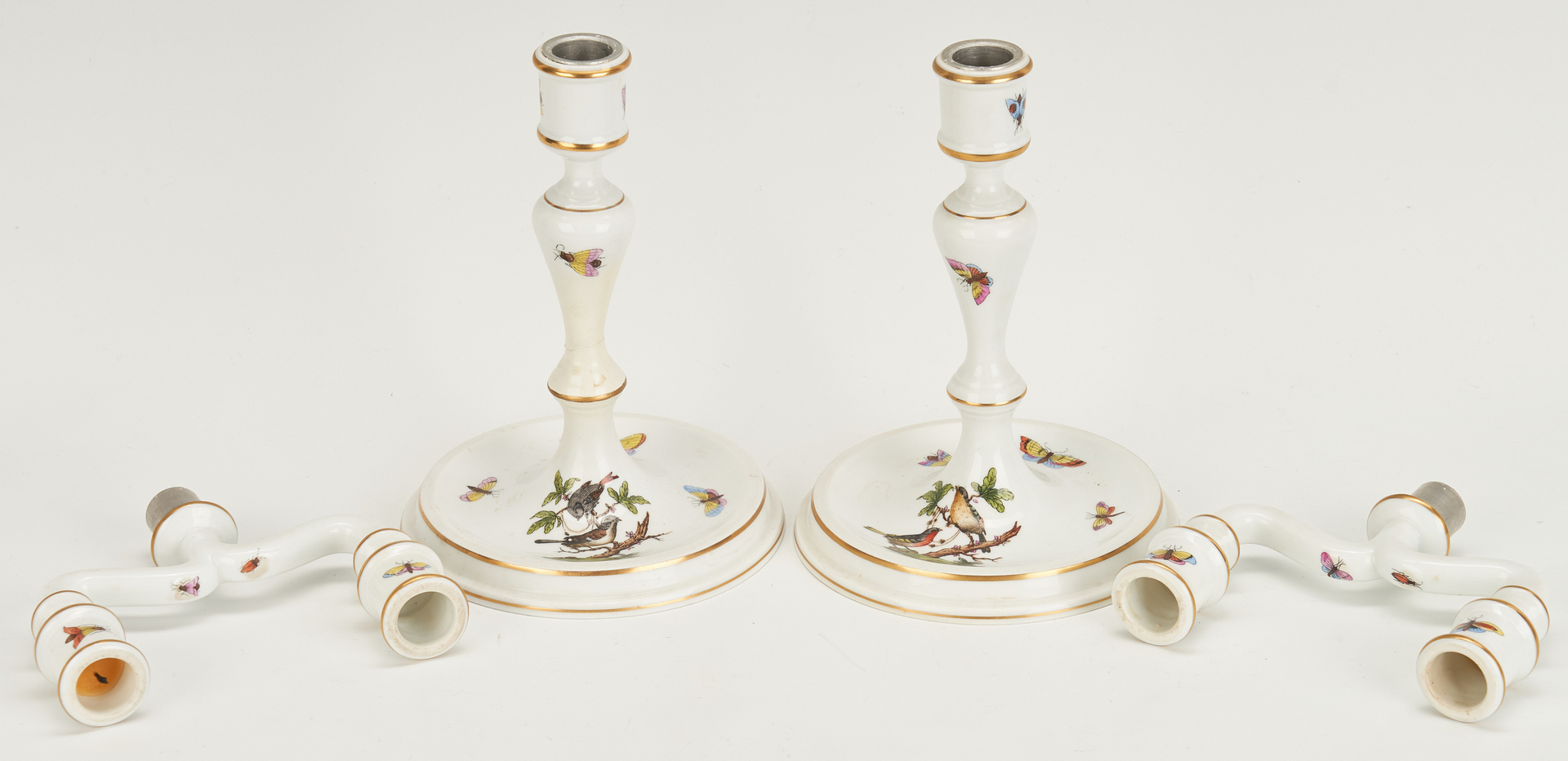 Lot 264: Herend Porcelain Serving Pieces & Accessories, 13 items