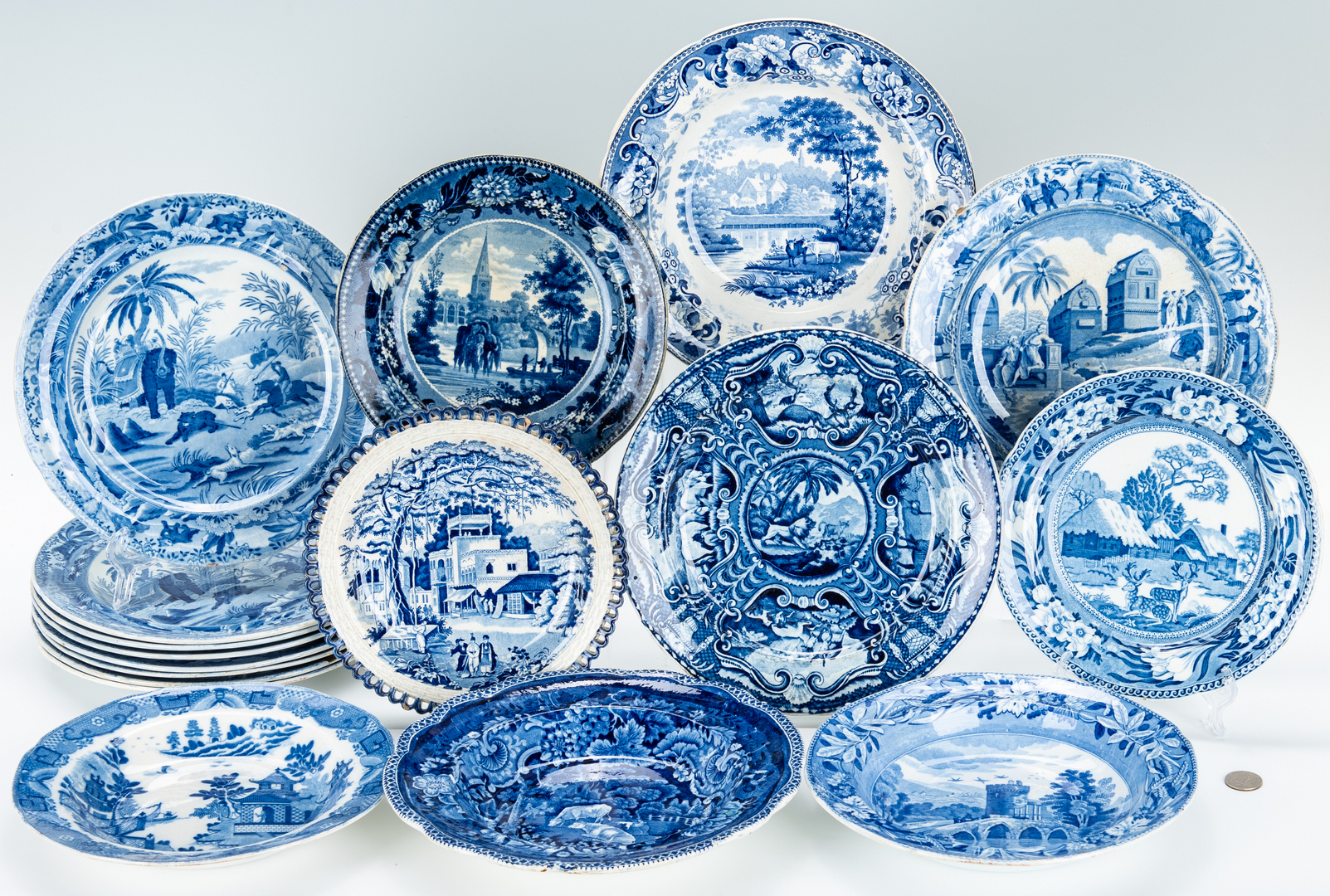 Lot 266: 17 Historical Staffordshire & Spode Items