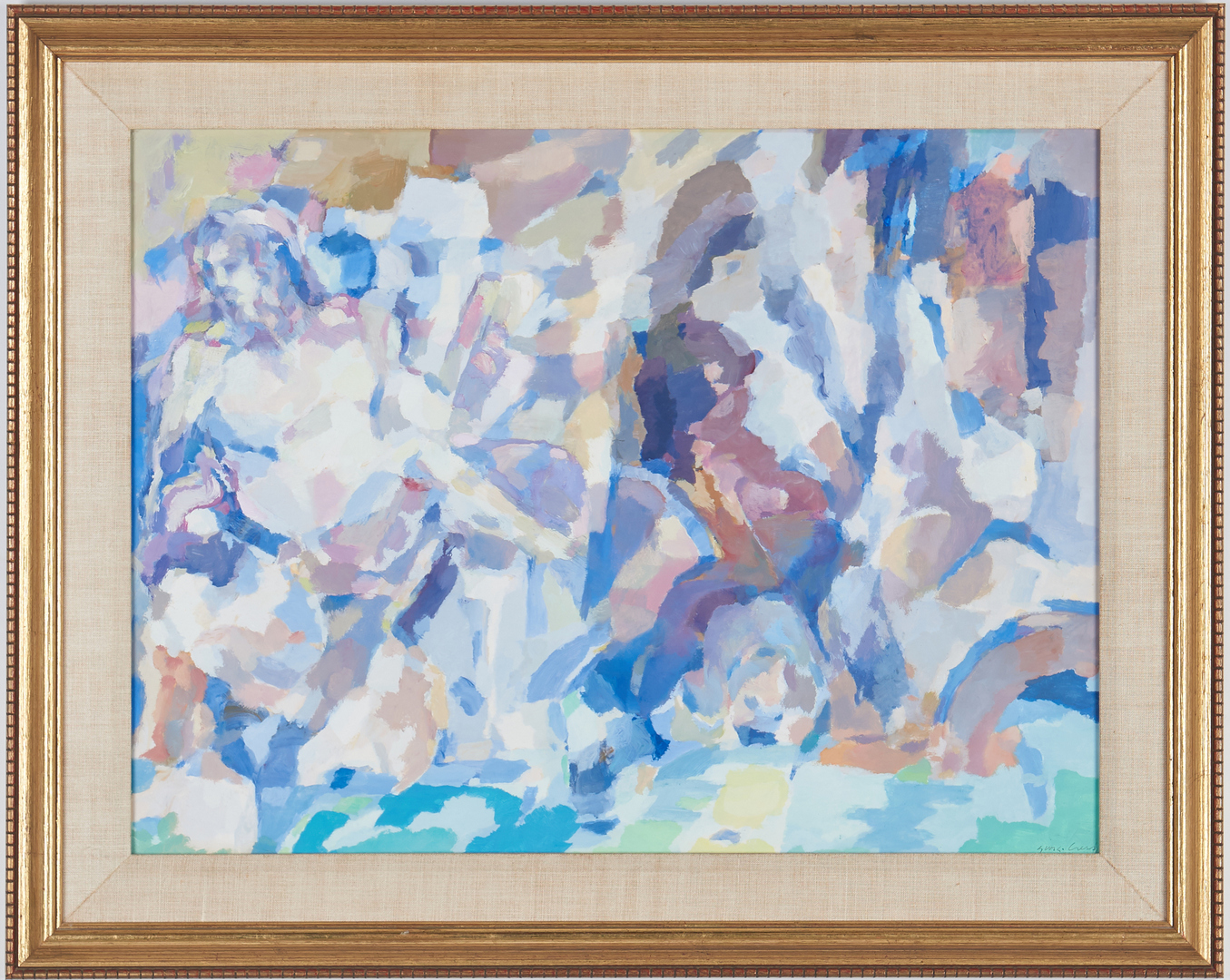 Lot 276: George Cress Oil on Paper Abstract Landscape