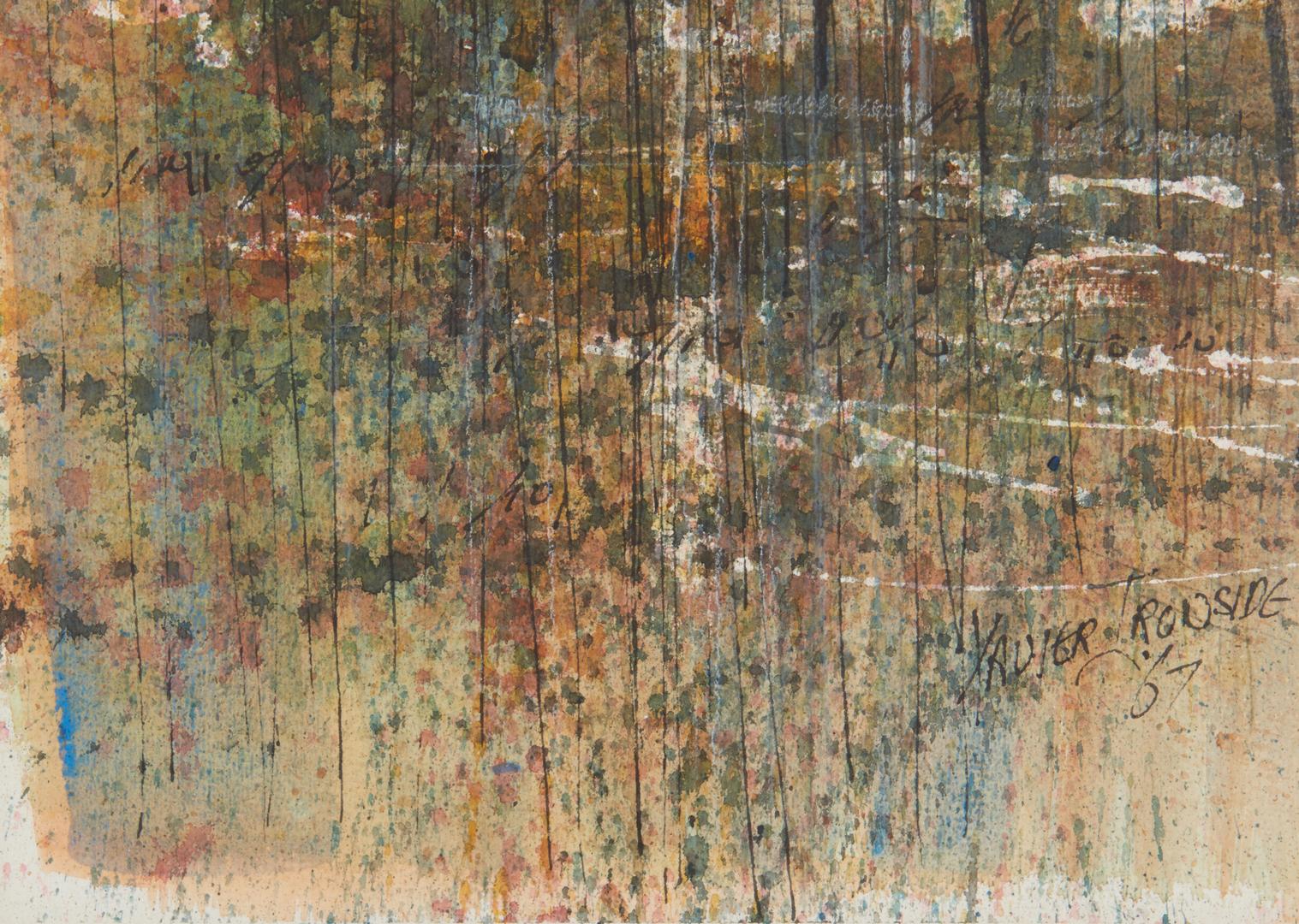 Lot 278: X. Ironside & Carl Sublett Watercolors