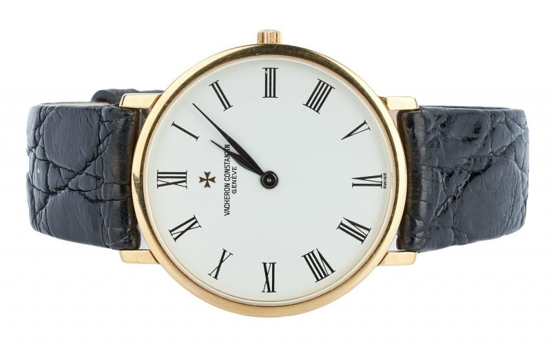 Lot 27: 18K Men's Vacheron Constantin Geneve Watch