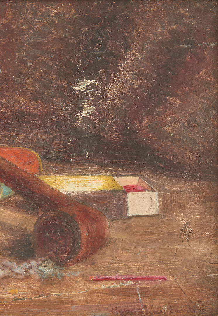 Lot 280: Cornelius Hankins, Small Still Life With Pipe