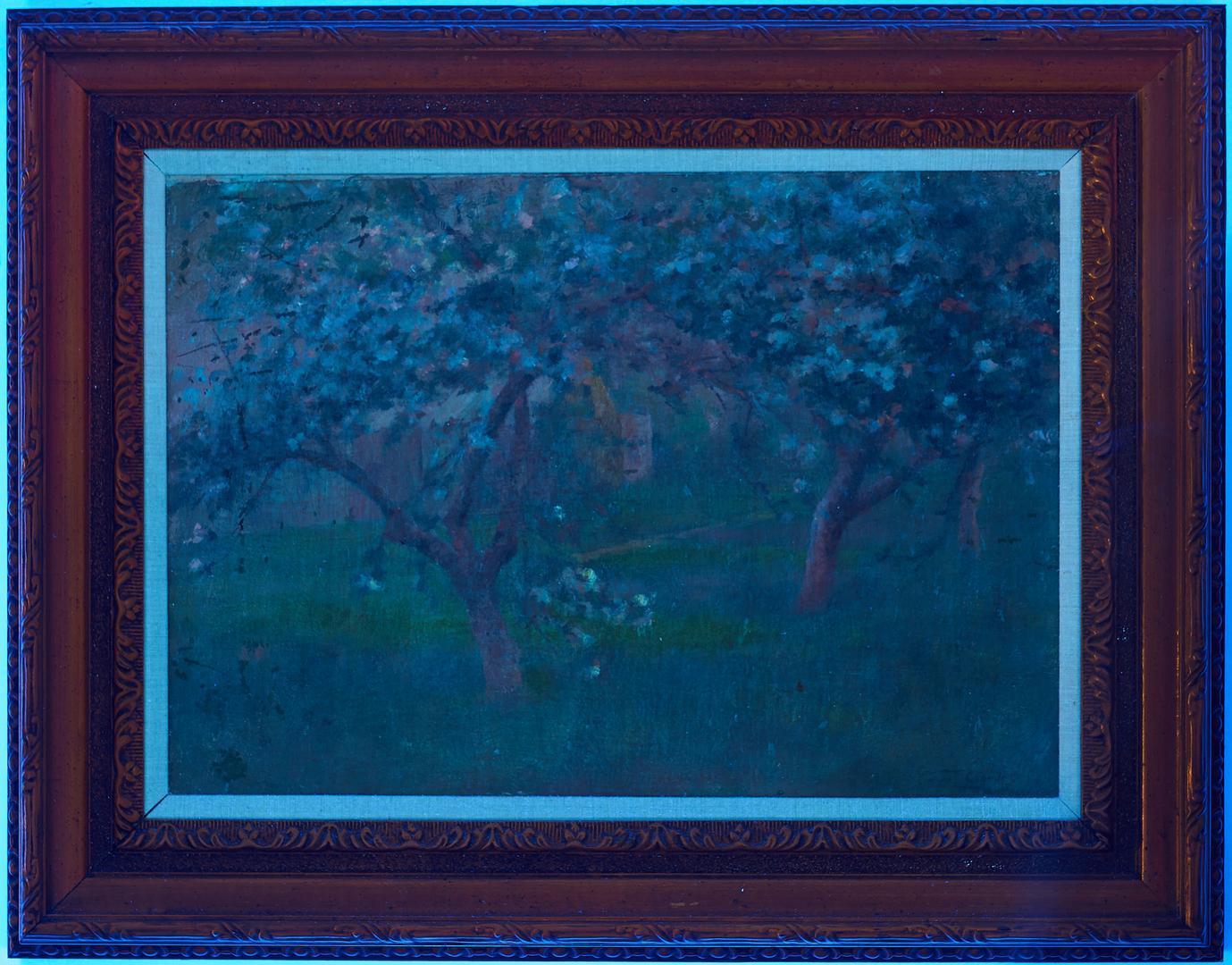 Lot 284: Walter Clark O/C, Spring Landscape