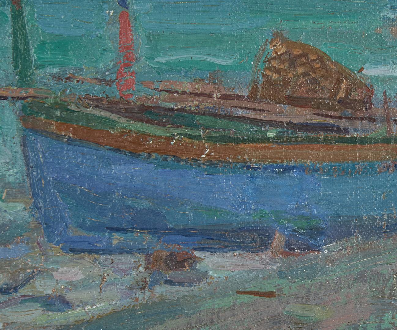 Lot 286: Frank Hutchens O/C Landscape Painting, Capri