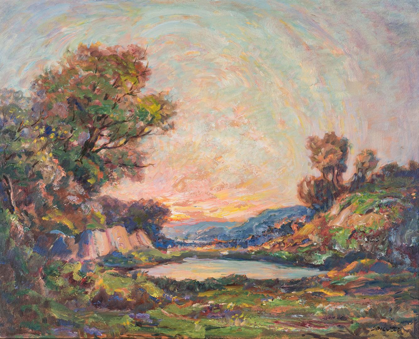 Lot 290: Francesco Spicuzza O/B, Impressionist & Portrait
