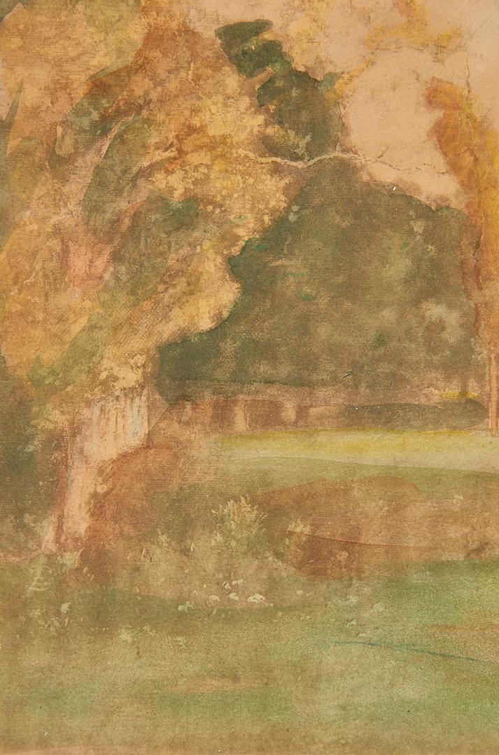 Lot 291: Attr. George Inness, Watercolor Landscape