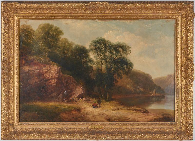 Lot 294: George Cole O/C Landscape, The Avon, Clifton