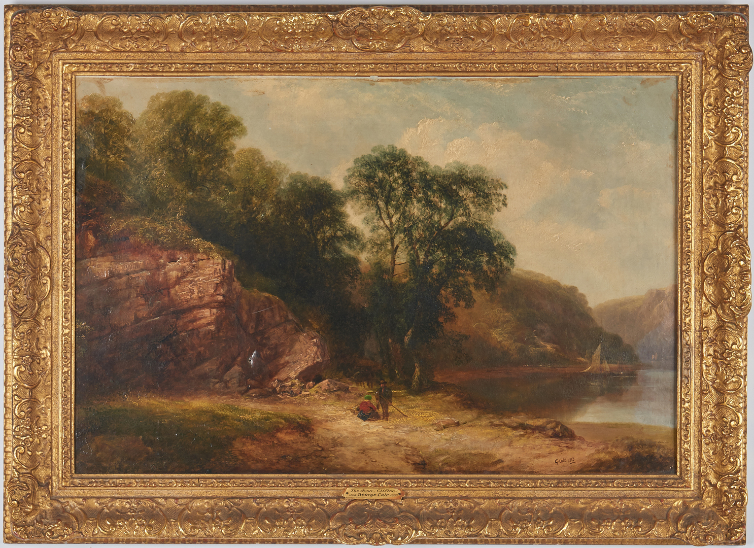 Lot 294: George Cole O/C Landscape, The Avon, Clifton