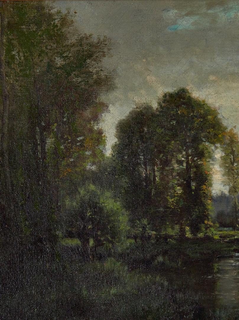 Lot 295: Grenet de Joigny O/C, Landscape w/ Fisherman