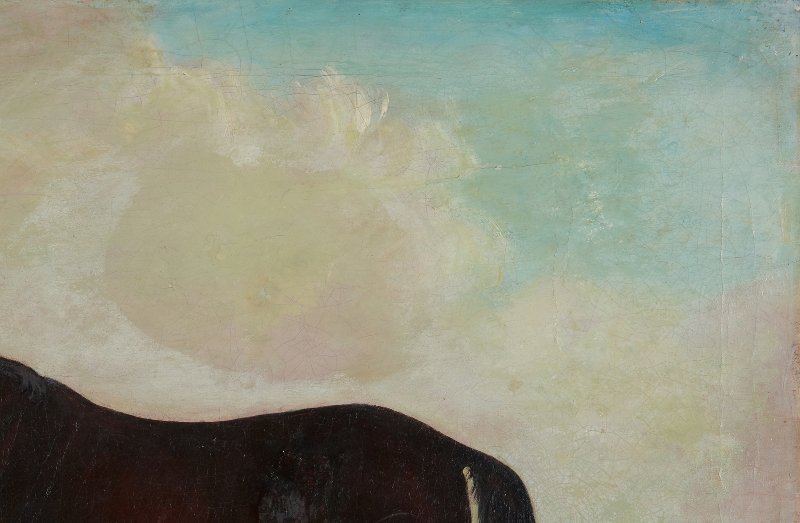 Lot 298: English School O/C Horse Portrait