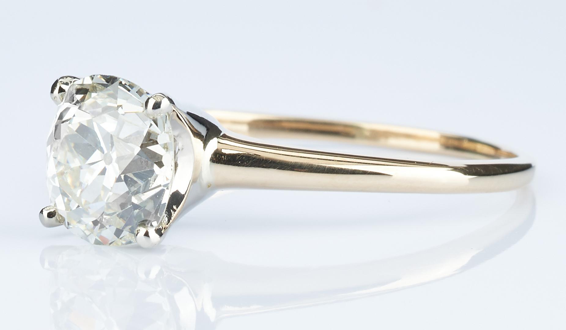 Lot 29: 2.13 CTW Mine Cut Diamond Ring, GIA (VS1, K)