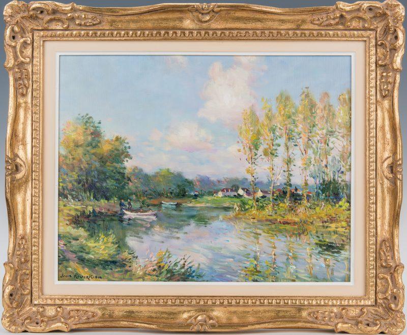Lot 305: Jean Kevorkian O/C Painting, Pastoral Landscape