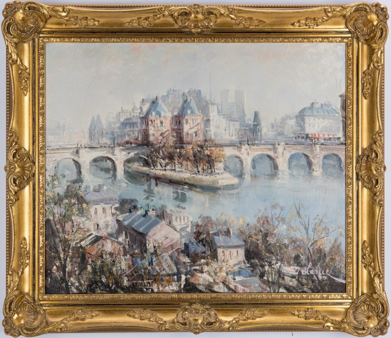 Lot 306: Lucien Delarue, Oil on Linen, Ile de la Cite