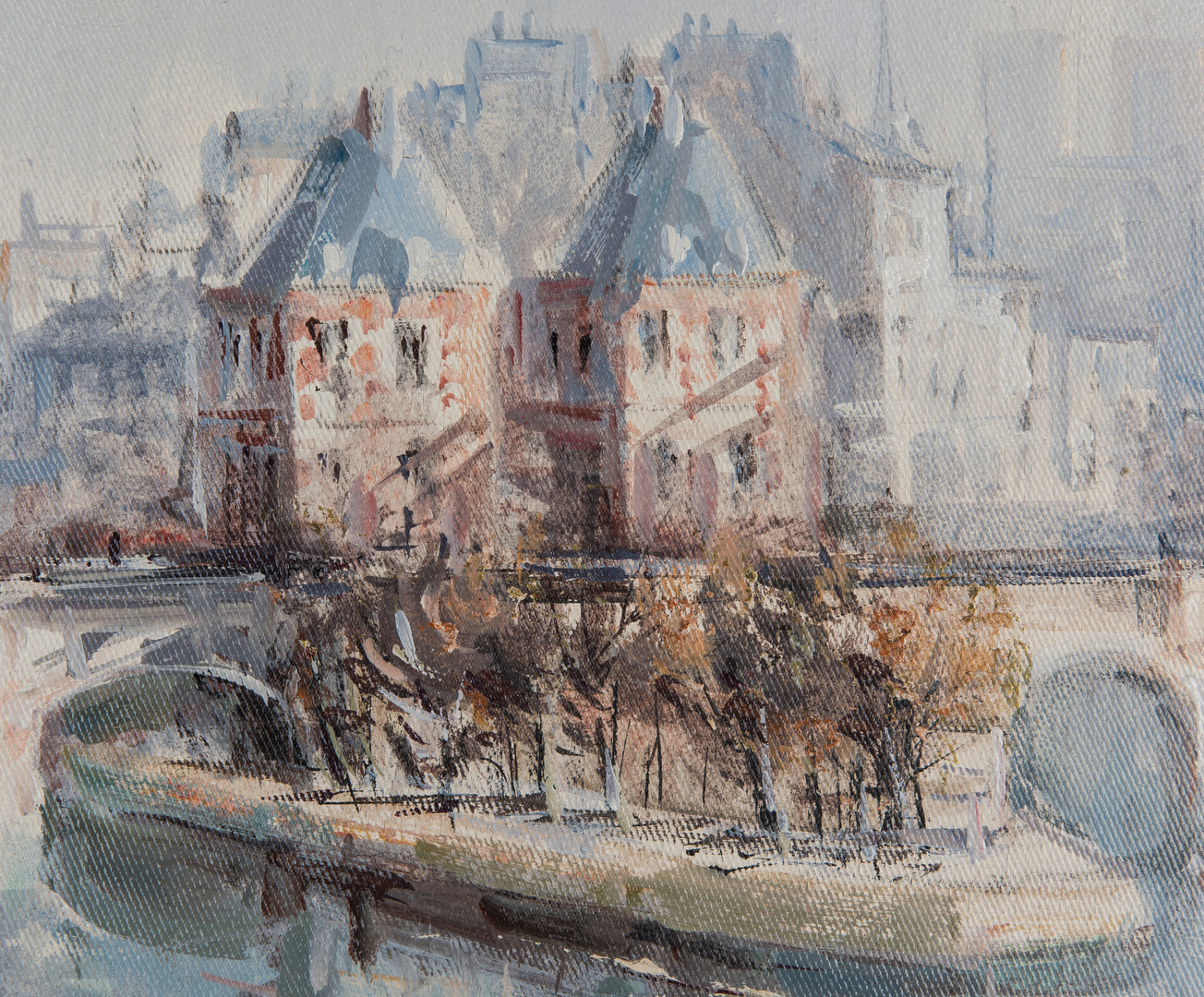 Lot 306: Lucien Delarue, Oil on Linen, Ile de la Cite