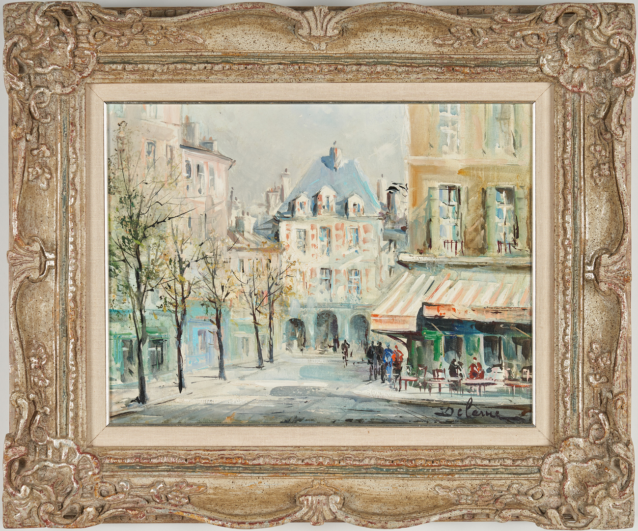 Lot 309: Lucien Delarue O/C, Place des Vosges, Paris