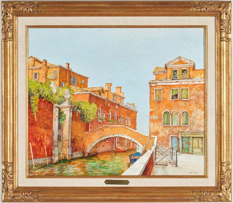 Lot 310: Jean Keime O/C, Bridge in Venice