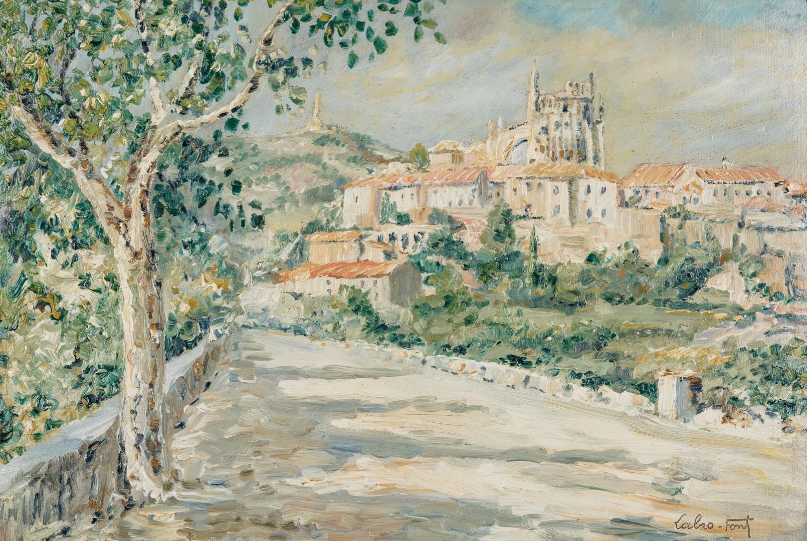 Lot 311: Louis Labro-Font Landscape Painting