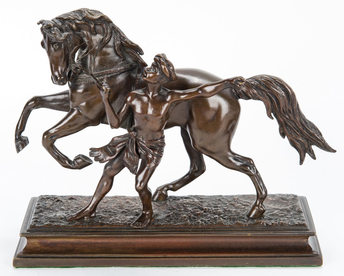 Lot 315: Pr. Bronze Figural Horse Bookends