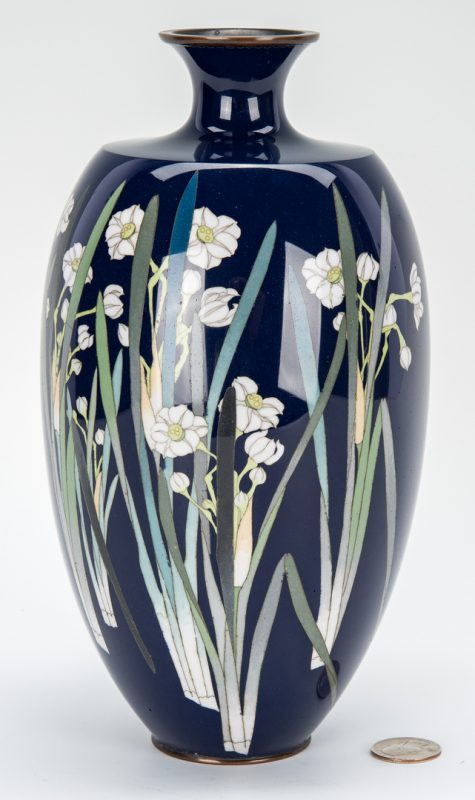 Lot 329: Japanese Cloisonne Vase