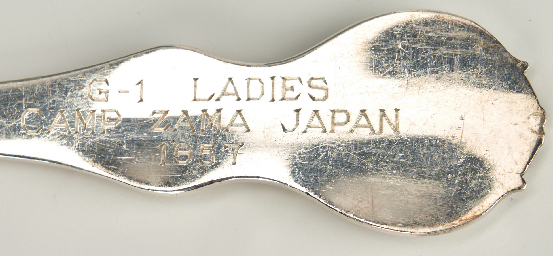 Lot 330: Asian silver box plus sake set, hairpin and fork