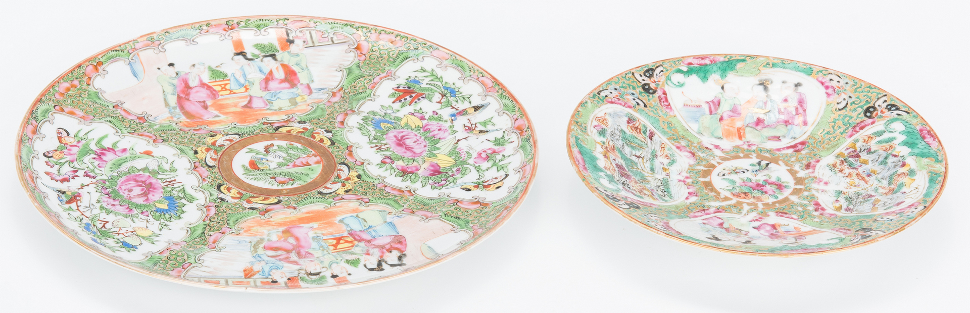 Lot 333: 15 pcs. Chinese Export Rose Medallion Table Items