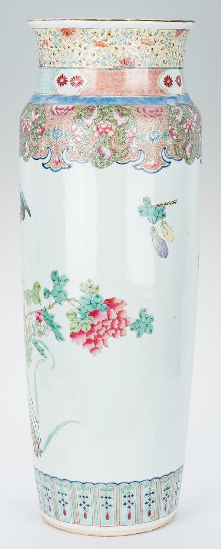 Lot 336: Chinese Porcelain Famille Rose Floor Vase