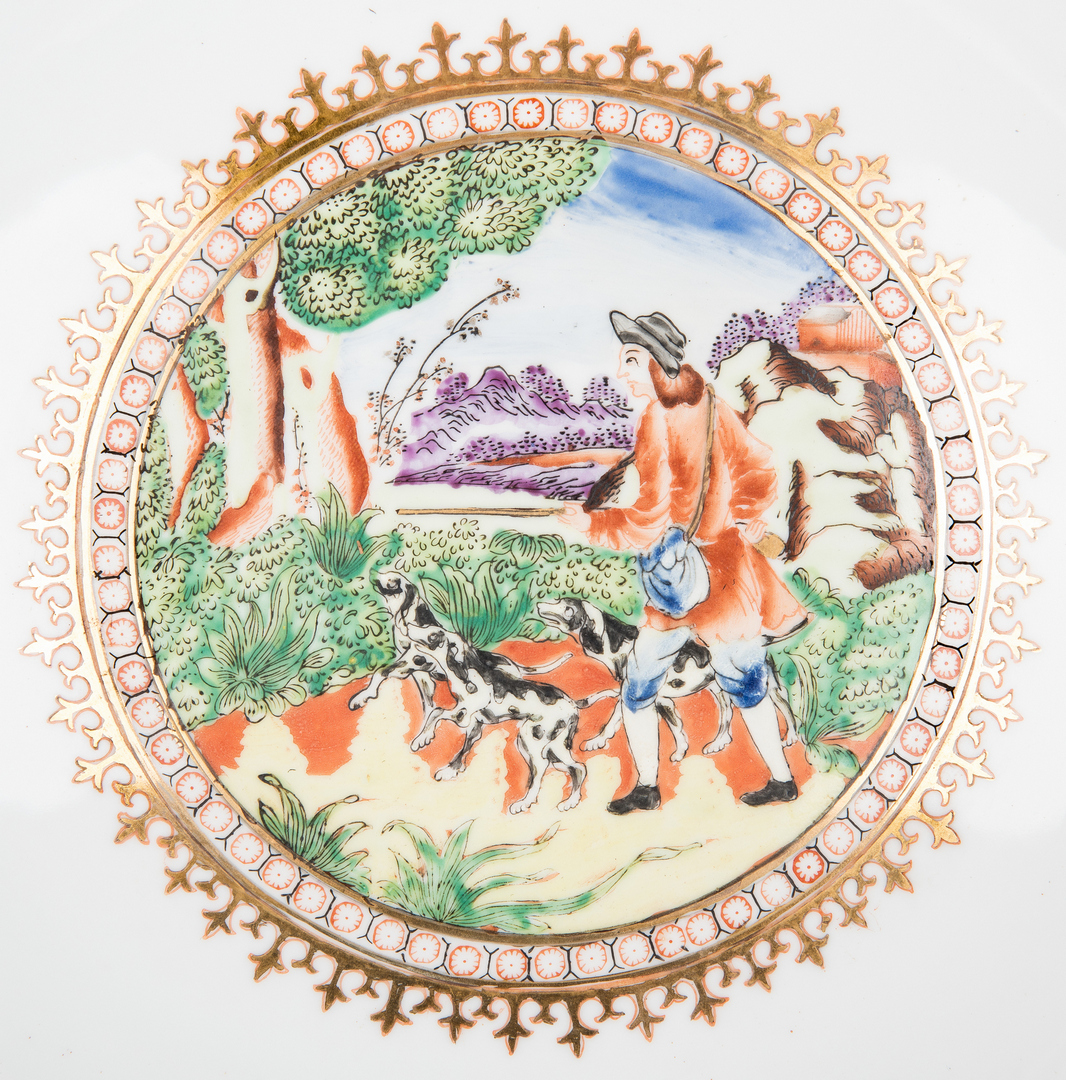 Lot 337: 2 Chinese Export Famille Rose Bowls, 1 19th century