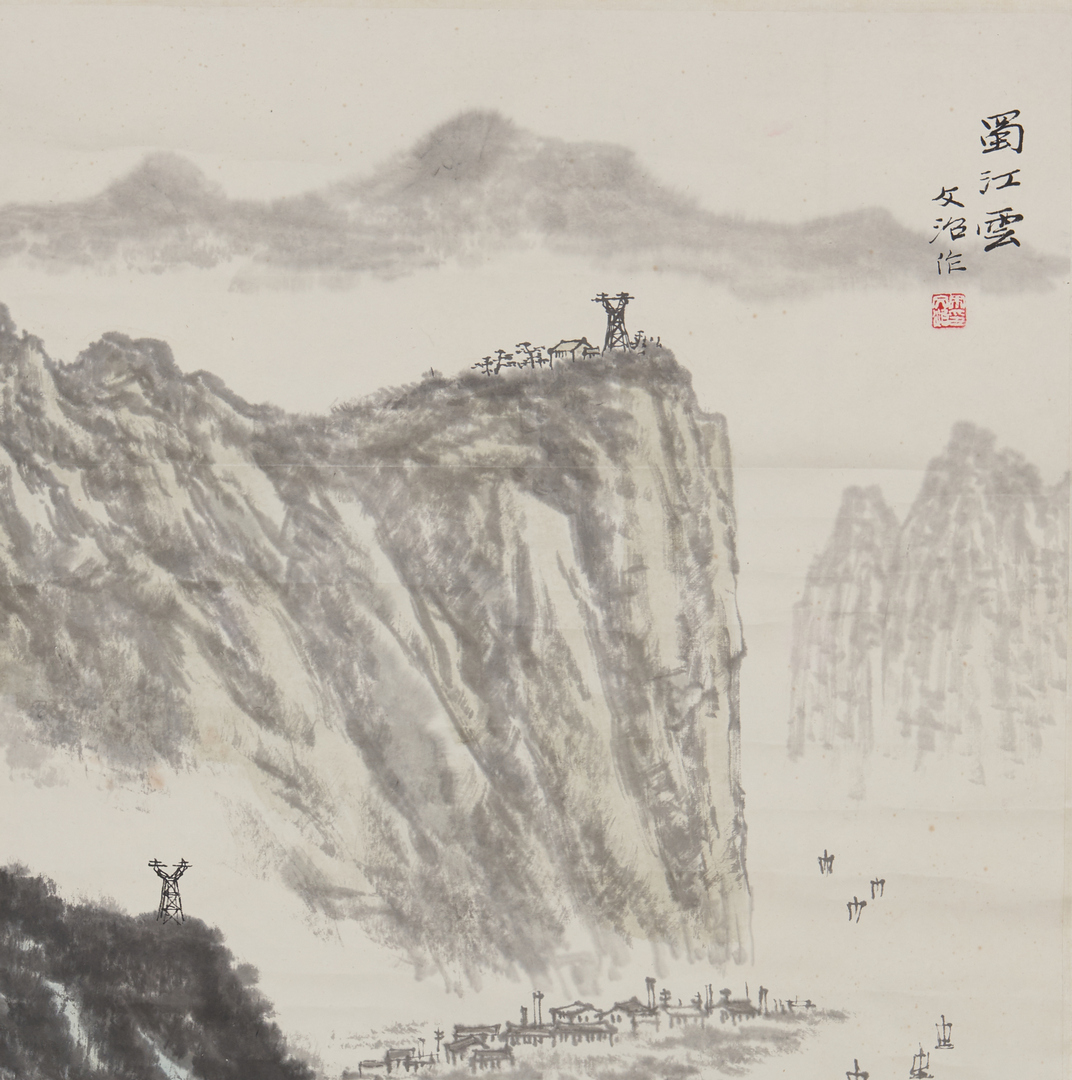 Lot 339: Song Wenzhi Landscape with Buildings