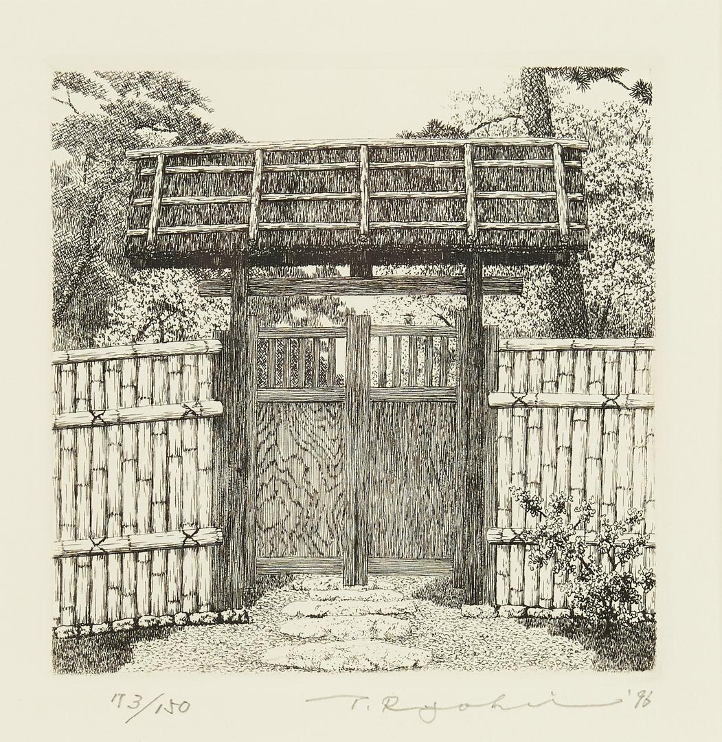 Lot 345: 6 Framed Etchings, Ryohei Tanaka