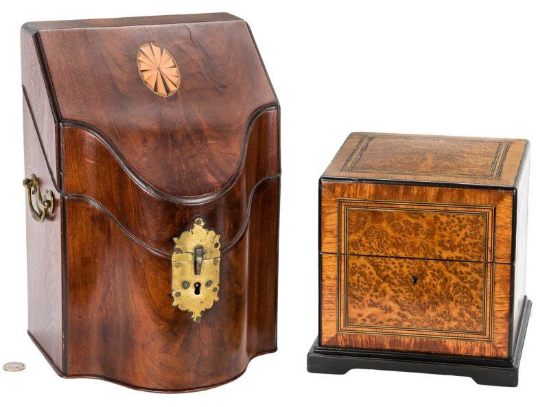 Lot 346: Georgian Document Box & Birdseye Maple Box